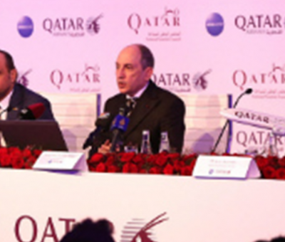 Qatar Airways: First day of show and Upcoming Destinations
