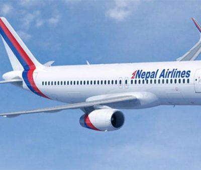 चीन गएको नेपाल एयरलाइन्सको वाइड बडी विमान काठमाडौँ आइपुग्यो