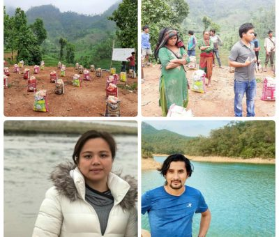 हङकङ निवासी आकाश बञ्जाराद्वारा बिपन्न ३५ चेपाङ परिवारलाई खाद्यान्न सहयोग