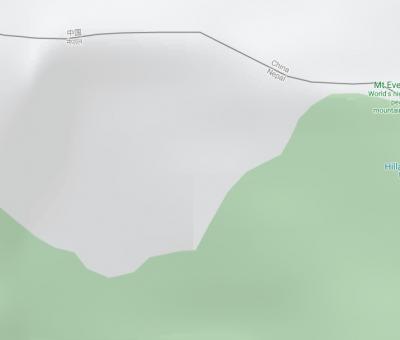 गुगलको नक्शामा विश्वको सर्वोच्च शिखर 'सगरमाथा चीनमा'