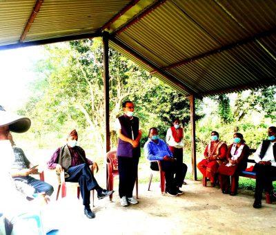 चितवनको कालिका स्थित उदयपुर सामुदायिक बनमा शुभकामना आदान प्रदान कार्यक्रम