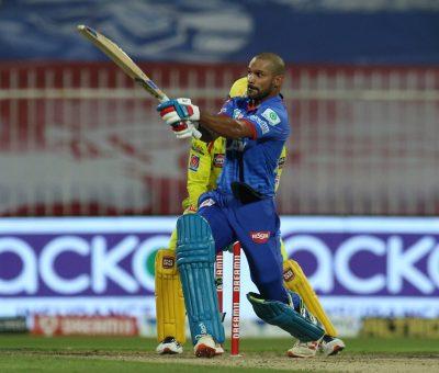 चेन्नई सुपर किङ्सलाई ५ विकेटले हराउँदै दिल्ली शीर्ष स्थानमा, धावनको शतक