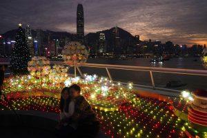 Virus Outbreak Hong Kong Christmas