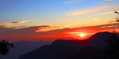 बेलढुङ्गाबाट देखिएको सूर्योदय