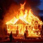 सप्तरीमा आगलागीबाट  घर जलेर  नष्ट