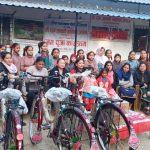देवघाटको रामजानकी बालिका आश्रमका बालिकाहरुलाई साईकल सहयोग