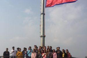राष्ट्रिय झण्डामुनि उभिएर सप्तगण्डकीका विद्यार्थीले मनाए 'भ्यालेन्टाइन डे'