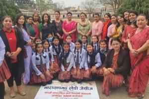 अन्तराष्ट्रिय नारी दिवसको अवसरमा नारायणगढ जेसीजद्धारा सचेतना कार्यक्रम