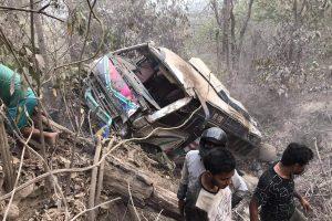 दाउन्ने दुर्घटना अपडेट: ३१ जना घाइते मध्ये तीन जनाको  उपचारका क्रममा मृत्यु