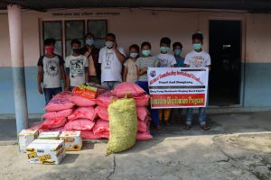 Health materials and food items support in Chitwan and Gorkha, Nepal by Hongkong's Students