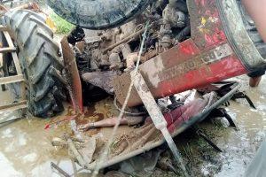 भरतपुरको कैलाशनगरमा खेत जोत्नेक्रममा ट्याक्टर पल्टिंँदा चालकको मृत्यु