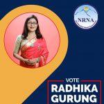 हङ्गकङ्ग निवासी समाजसेवी राधिका गुरूङ्ग (टिका)को एनआरएनए महिला सचिवमा उम्मेदवारी