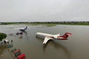 विराटनगर विमानस्थल जलमग्न, सबै उडान रद्ध