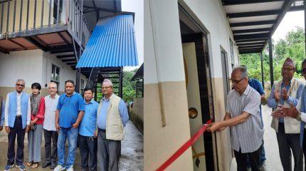 गामबेंशीको चेपाङ संरक्षण केन्द्रमा निर्मित ६ कोठे छात्रावास भवनको उद्घाटन